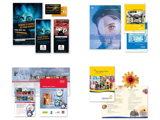Designed and printed literature
