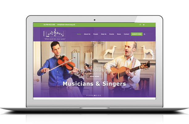 Lost Chord Dementia Charity website by Kingdomedia