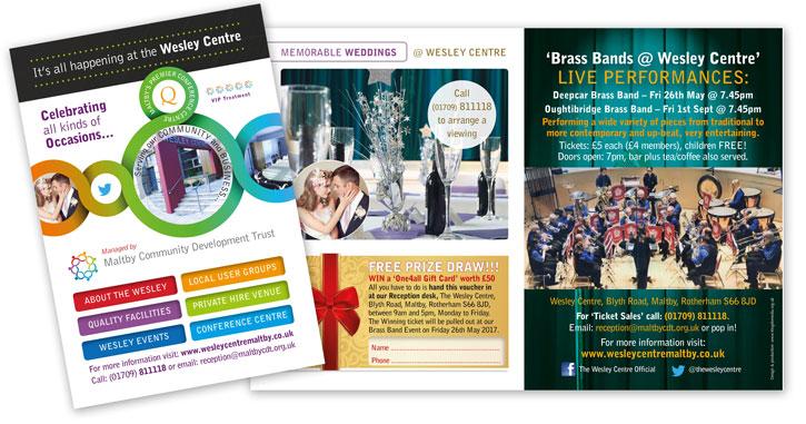 Wesley Centre mailshot brochure by Kingdomedia