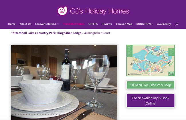New Website design and build project for CJ's Holiday Homes