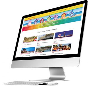 Supported Holidays website for Morley Care Services, created and maintained by Kingdomedia.