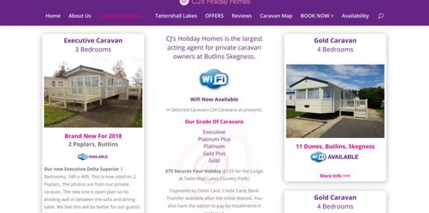 CJ's Holiday Homes website goes live!