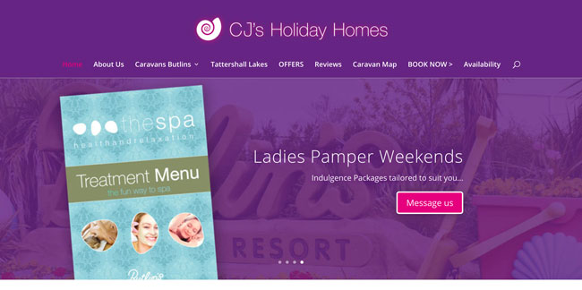 CJ's Holiday Homes website goes live!