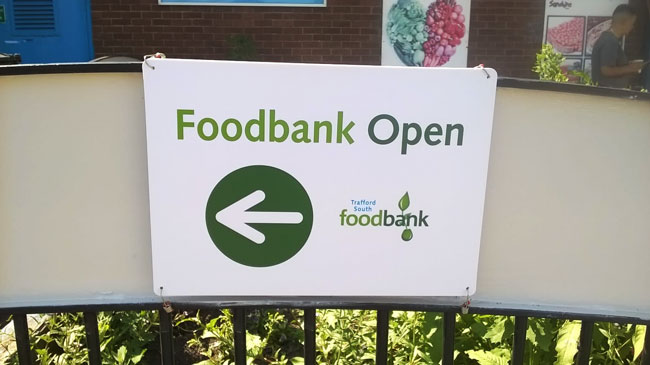 All-weather signage for the Food Bank