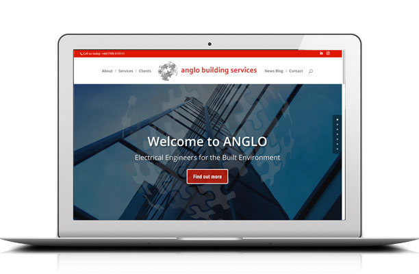 Responsive website by Kingdom Creative Media UK for Anglo Building Services