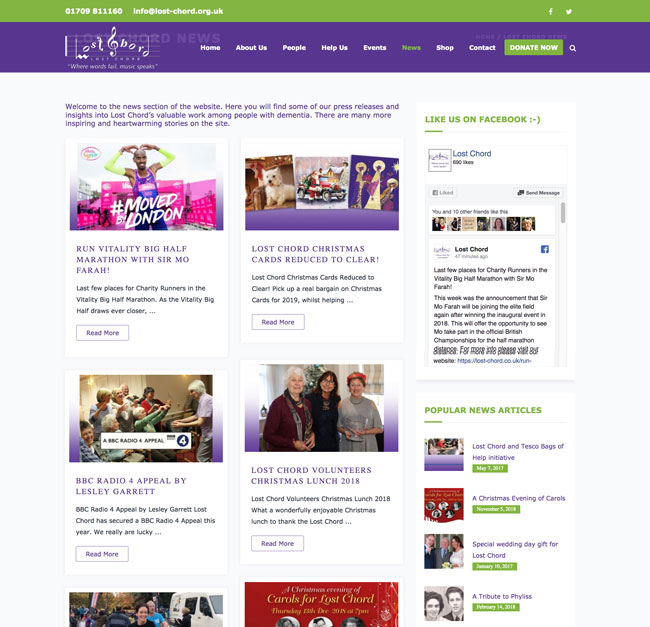 Lost Chord Charity's News Blog created and maintained by Kingdom Creative Media UK