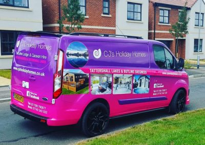 CJ's Holiday Homes – Vehicle Livery