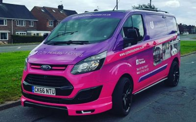 CJ's Holiday Homes new vehicle livery is getting plenty of attention