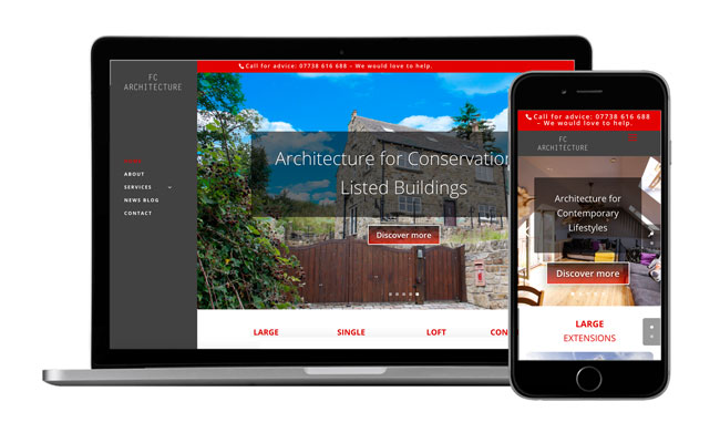 New Architectural website launched for FC Architecture, by Kingdomedia