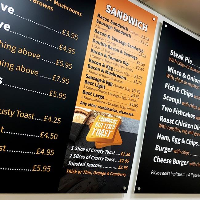 Interior signage refresh for Interchange Cafe