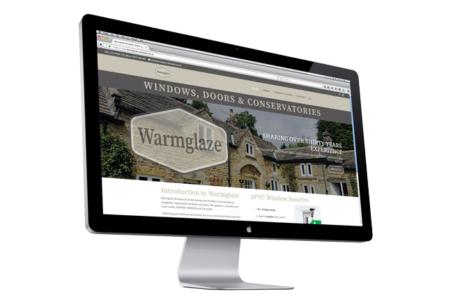 Warmglaze Windows & Conservatories website by Kingdomedia