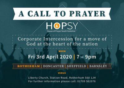 A Call to Prayer – South Yorkshire Event