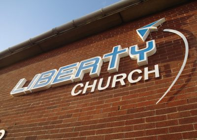 Signage for Liberty Church, Rotherham